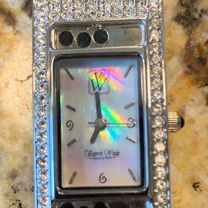 Victoria Wieck Beverly Hills MOP Crystal Watch